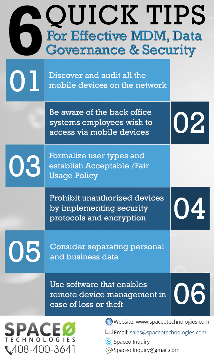 6 Quick Tips for Effective MDM, Data Governance and Security