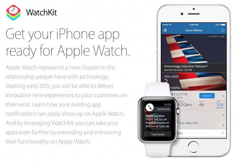 apple watchkit app