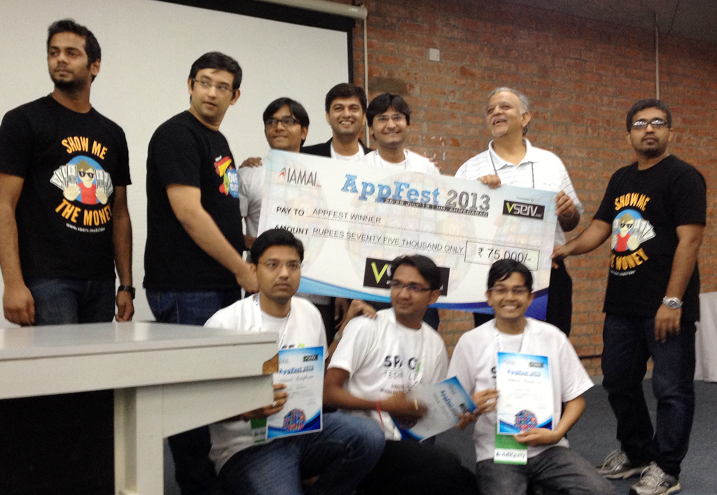 spaceo - appfest 2013 - hackathone - winners