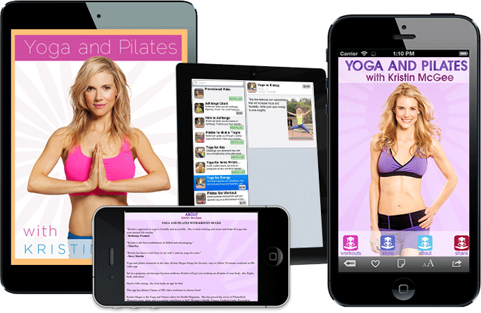 Yoga & Pilates with Kristin McGee - Develop Fitness iPhone Apps