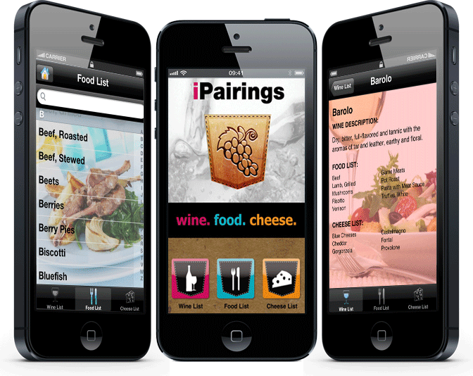 iPairings: Wine, Food and Cheese Pairings