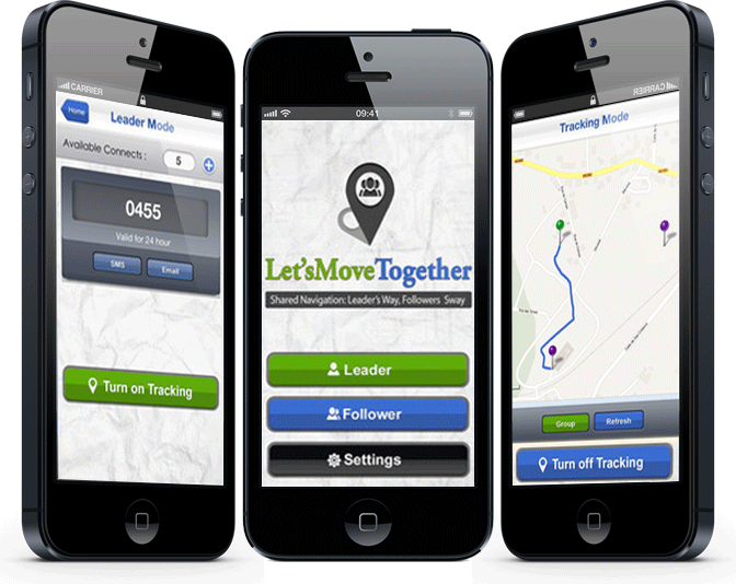 LetsMoveTogether – Shared Navigation: Leader's Way, Followers' Sway