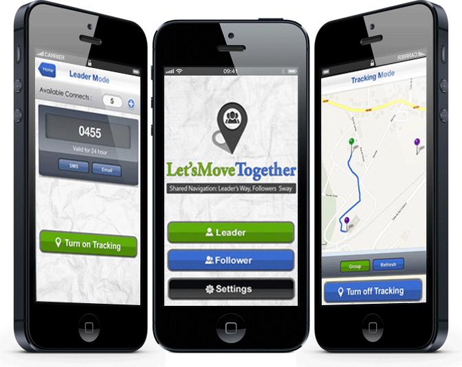 LetsMoveTogether – Shared Navigation: Leader's Way, Followers' Sway