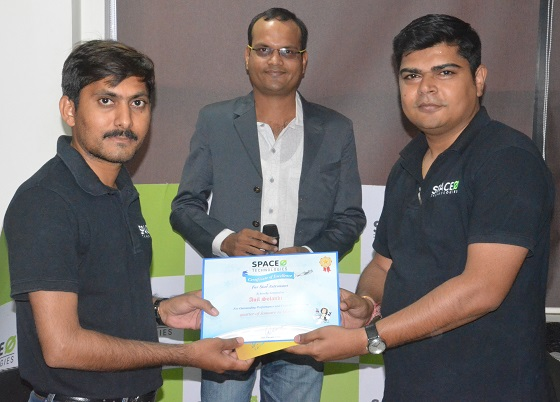 R&R Award to Anil Solanki - Space-O Technologies