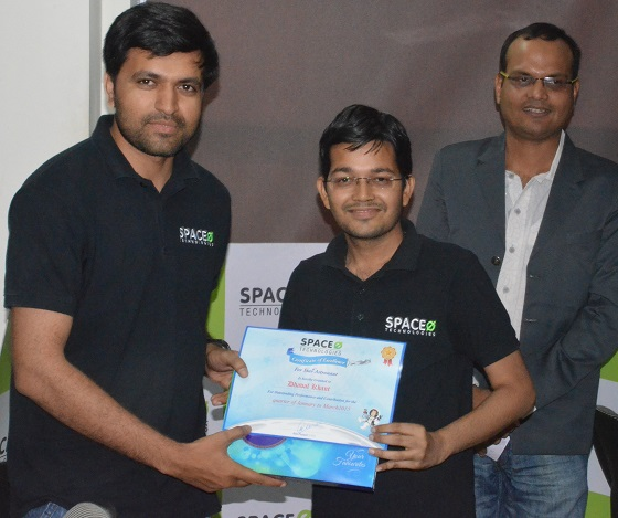 R&R Award to Dhaval Khant - Space-O Technologies