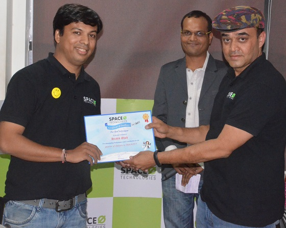 R&R Award to Hardik Shah - Space-O Technologies