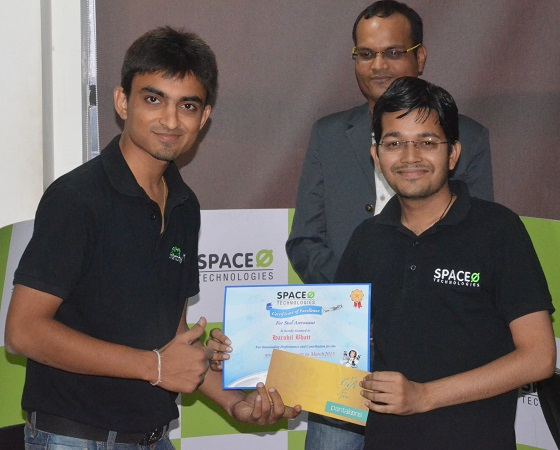 R&R Award to Harshil Bhatt - Space-O Technologies