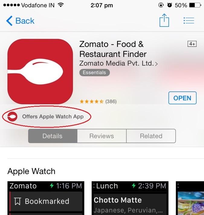 Zomato App on App Store