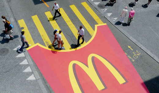 Guerilla Marketing as done by McDonald's